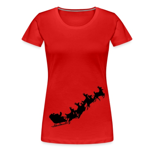 Santa sledge t - Women's Premium T-Shirt