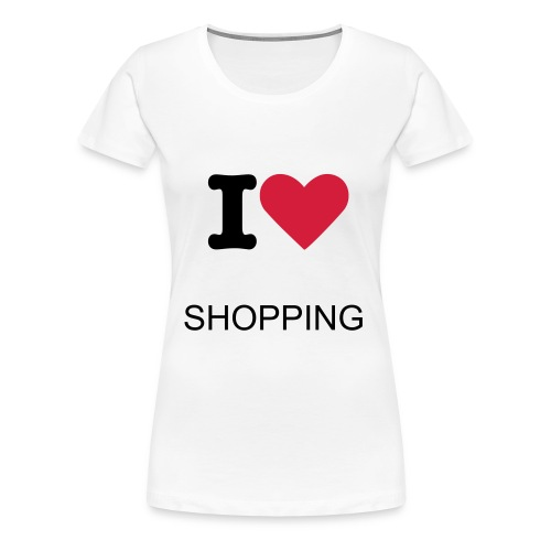 i LOVE shopping - Women's Premium T-Shirt