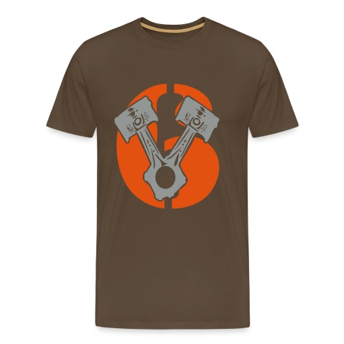 Kolben im V6 Stil  - Männer Premium T-Shirt