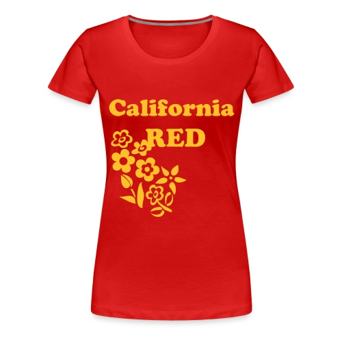 California RED - Women's Premium T-Shirt