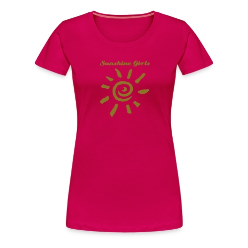 Sunshine Girls - Pink Text - Frauen Premium T-Shirt