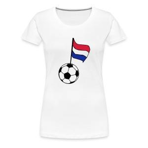 Voetbal Vlag, zwart, rood en blauw flex - Vrouwen Premium T-shirt