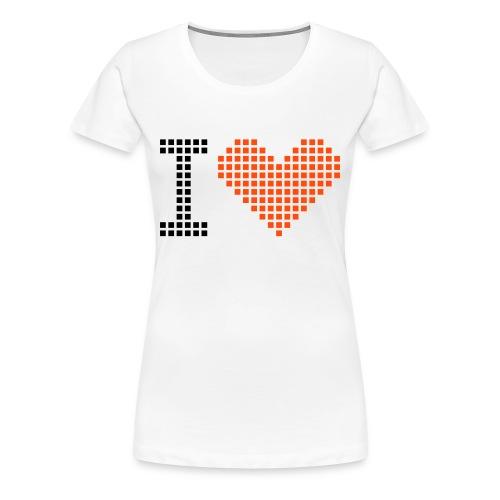 I love - Vrouwen Premium T-shirt