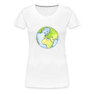 Erde  - Frauen Premium T-Shirt