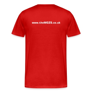 theMGZS.co.uk T-Shirt (red) - Men's Premium T-Shirt