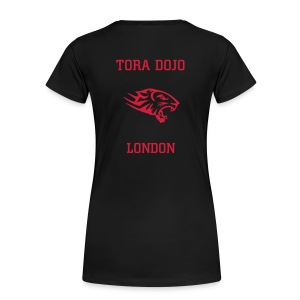 BLACK N RED LADIES T  (TIGER BACK) - Women's Premium T-Shirt
