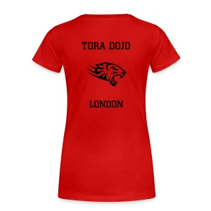 RED N BLACK LADIES T  (TIGER BACK) - Women's Premium T-Shirt