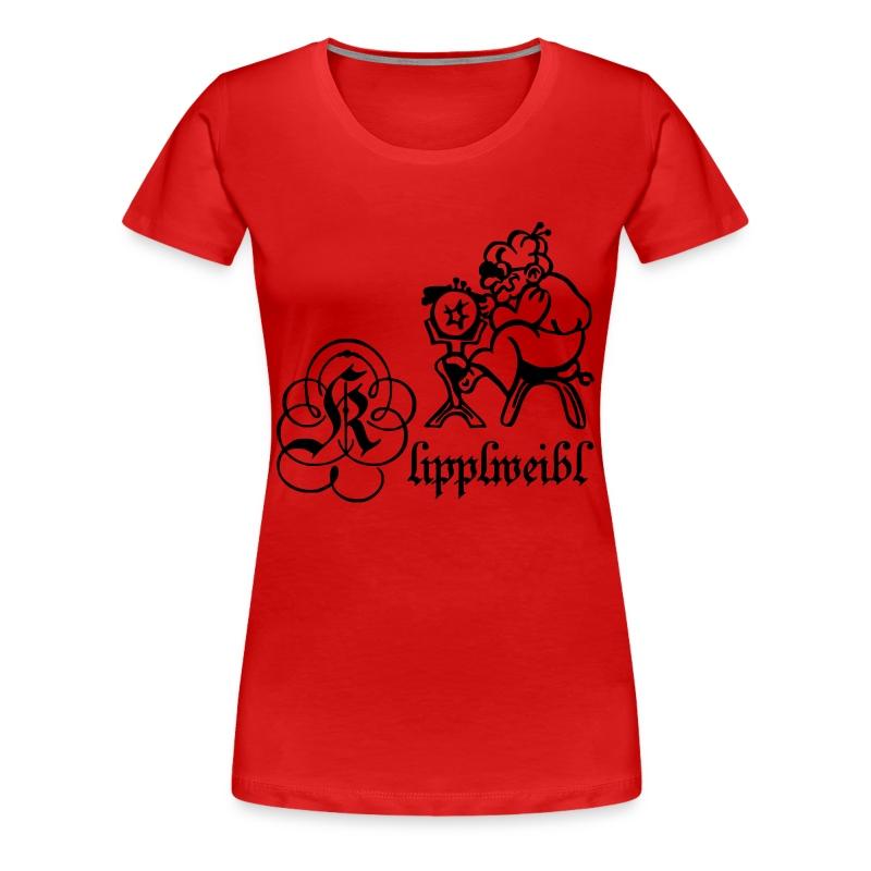 Klipplweibl rot/female - Frauen Premium T-Shirt