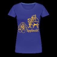 T-Shirts ~ Frauen Premium T-Shirt ~ Klipplweibl türkis/female