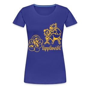 Klipplweibl türkis/female - Frauen Premium T-Shirt