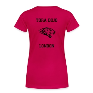 PINK N BLACK LADIES T  (TIGER BACK) - Women's Premium T-Shirt
