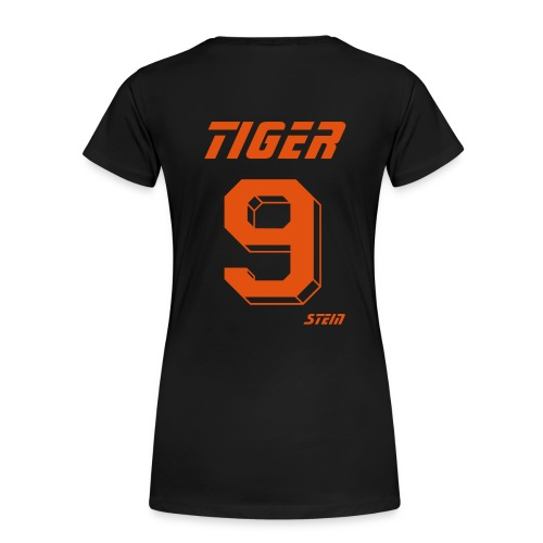 Black Womens Tiger Ninestein Raw Edge - Women's Premium T-Shirt