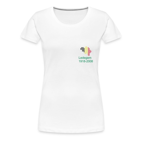 Ladies Remembrance Ledegem T-Shirt Belgian Logo - Women's Premium T-Shirt