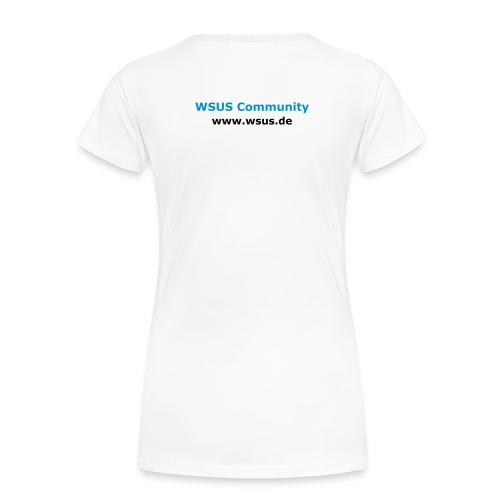 WSUS Community Girlie-Shirt (white) - Frauen Premium T-Shirt