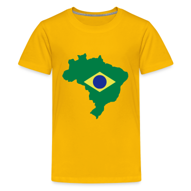 Yellow Brazil Kid's Shirts