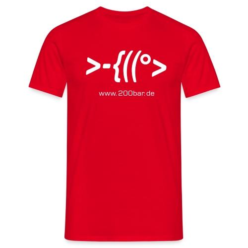 200bar.de Shirt Red - Männer T-Shirt