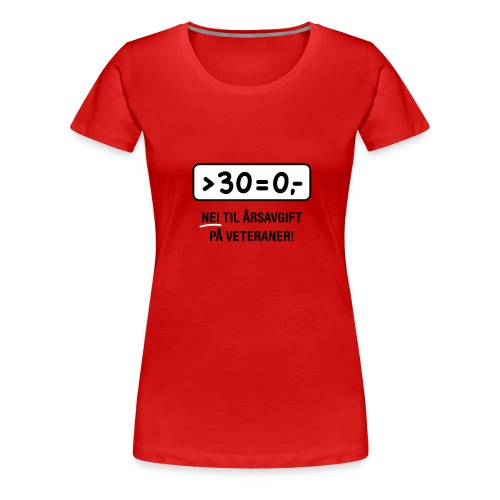 30 = 0,- (veterankampanje) - Premium T-skjorte for kvinner