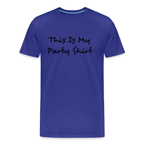 This is my party shirt - Premium T-skjorte for menn