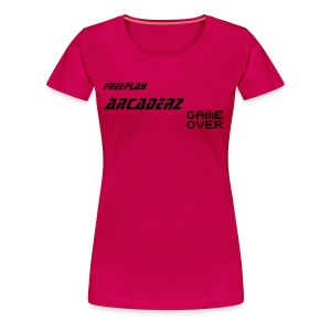 Cool Pink Game Over - Women's Premium T-Shirt