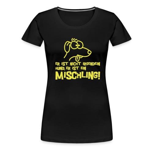 Mischling - yellow/black girlie - Frauen Premium T-Shirt