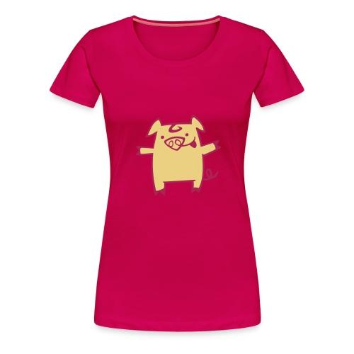 camiseta pork - Camiseta premium mujer