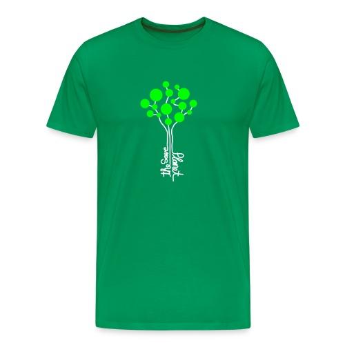 Savetheplanet_2f T-Shirt Männer grün - Männer Premium T-Shirt