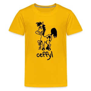 ceffyl - cryst - Teenage Premium T-Shirt