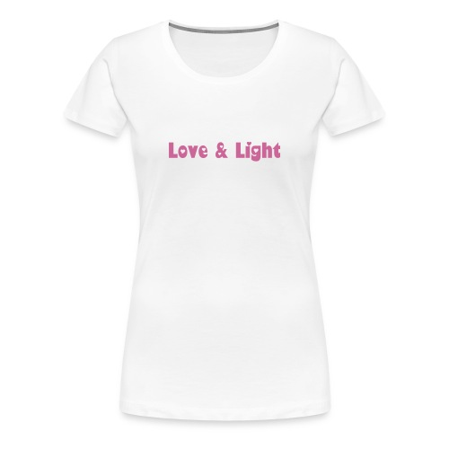 Women's Premium T-Shirt - Bright white t-shirt with pink glittery lettering for all you brilliant sparkly folk