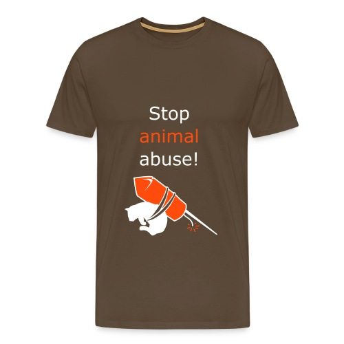 Stop animal abuse! - Herre premium T-shirt