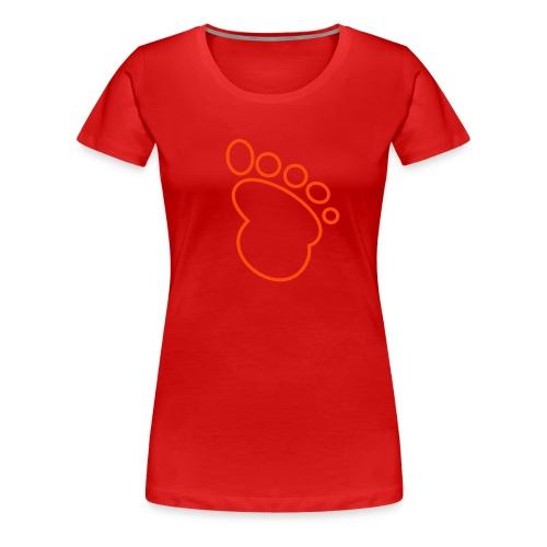 Shirt Füßchen - Frauen Premium T-Shirt