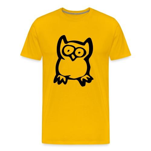 ugle skjorte - Premium T-skjorte for menn
