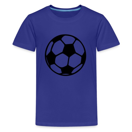 Football (black) - Teenage Premium T-Shirt