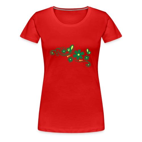 T-skjorte dame blomsterglad - Premium T-skjorte for kvinner