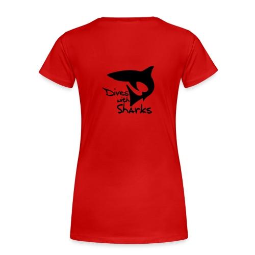 Dives with Sharks - Frauen Premium T-Shirt