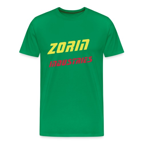 Dual colour henchman green backprint - Men's Premium T-Shirt