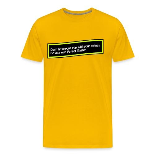 Puppet Master Yellow - Men's Premium T-Shirt