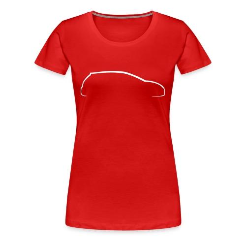 Camiseta para mujer perfil seat leon - Camiseta premium mujer