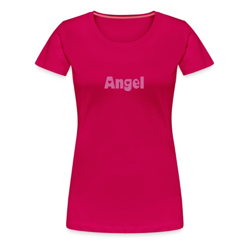 Women's Premium T-Shirt - Soft pink t-shirt with pink glittery lettering for the open-hearted angel