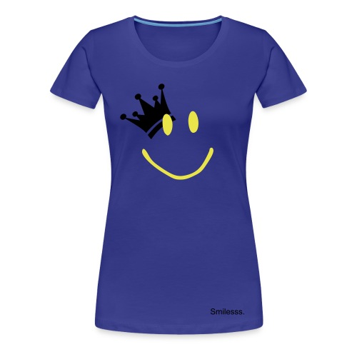 Crowned Smiley. - Women's Premium T-Shirt