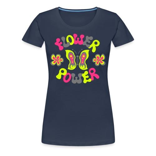 Flutterbyes and flowers - Women's Premium T-Shirt