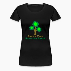 Black saveatree_3f Women's Tees