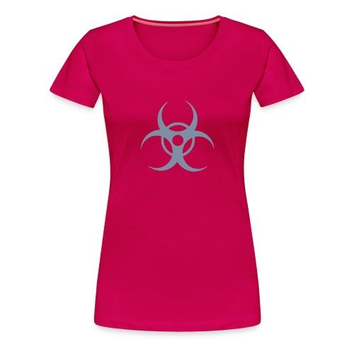 Biohazard (silver) - Women's Premium T-Shirt