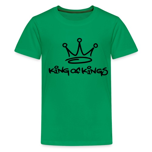 King of kings (black) - Teenage Premium T-Shirt