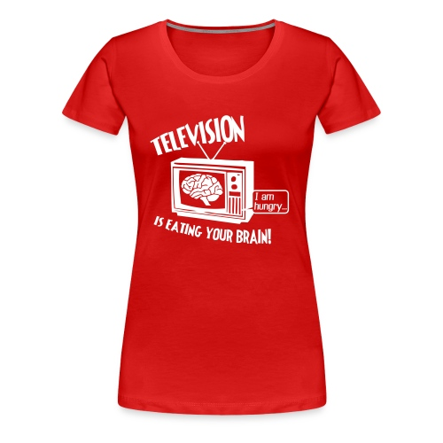 Hungry TV (white) - Women's Premium T-Shirt
