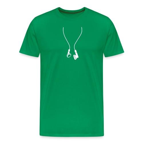 Headphones (white) - Men's Premium T-Shirt