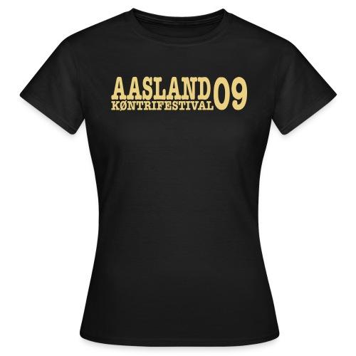 Offisiell AKF09 ShaniaTee (OBS! GAMMEL MODELL) - T-skjorte for kvinner