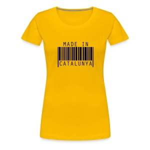 Samarreta Made in Catalunya - Camiseta premium mujer