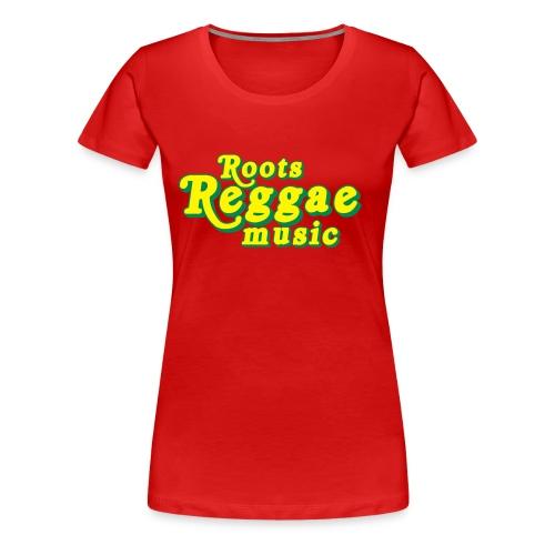 REGGAE MUSIC JAUNE/VERT - T-shirt Premium Femme