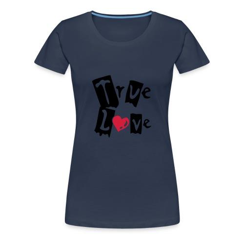 True Love (black & red) - Women's Premium T-Shirt