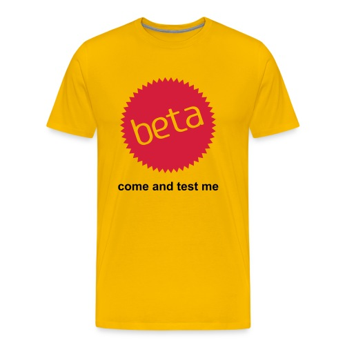 Yellow Beta - Men's Premium T-Shirt